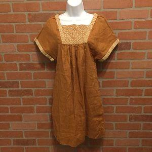 Madewell linen wander dress embroidered new (K64)